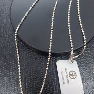 GIANI BERNINI beaded sterling silver necklace